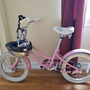 Girls Bicycle and Helmet